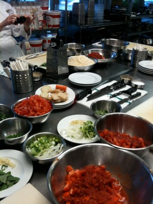 LOVE the Italian mise en place, so pretty with all the color.