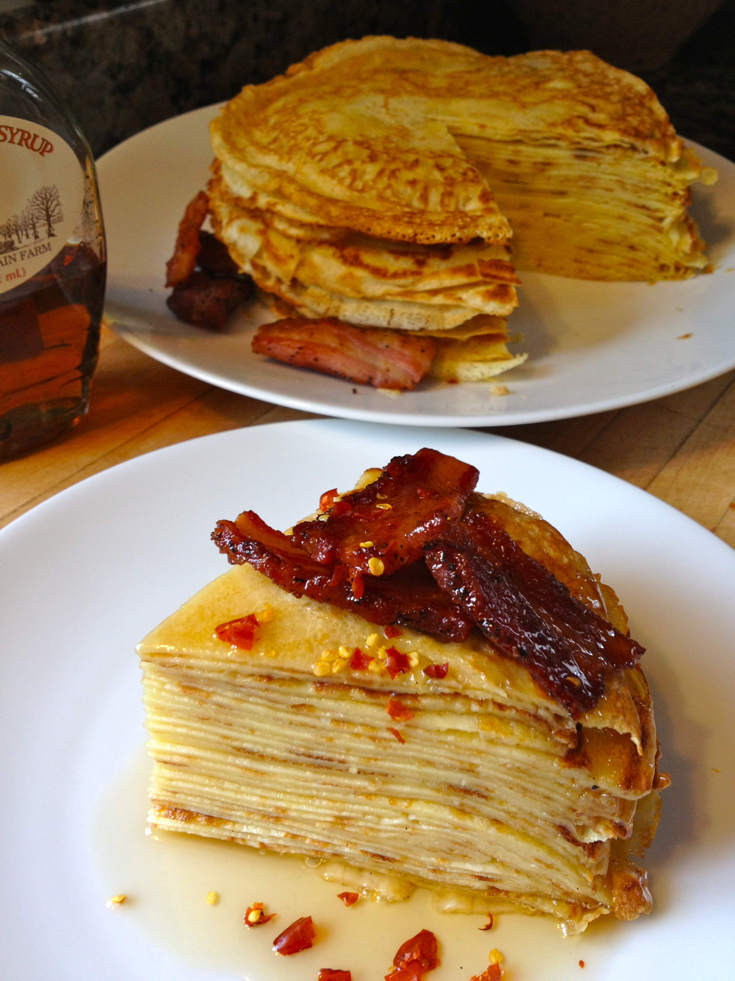 Pancakes with Bacon and Chili | Spry on Food