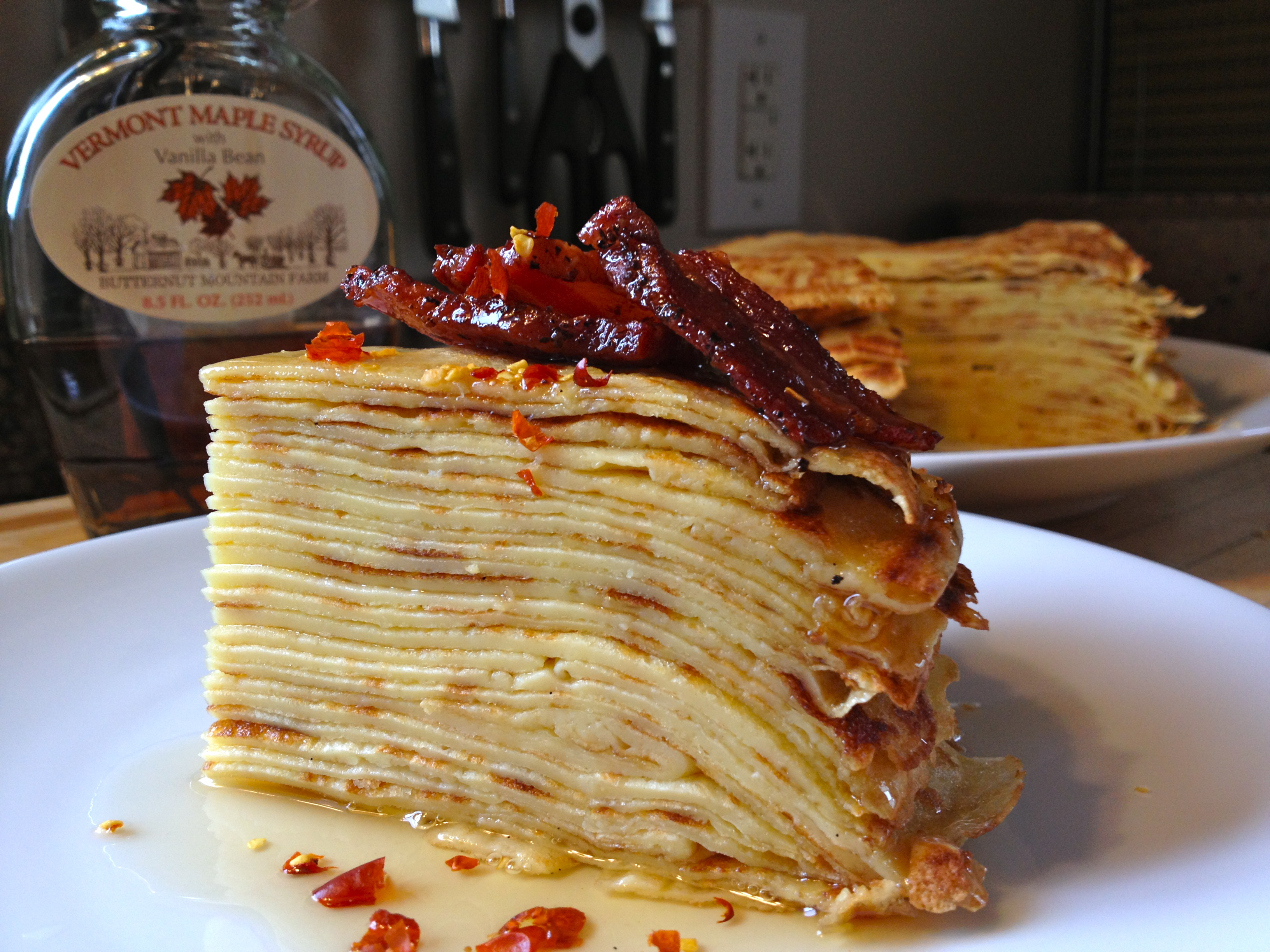 pancake and bacon breakfast - photo #13